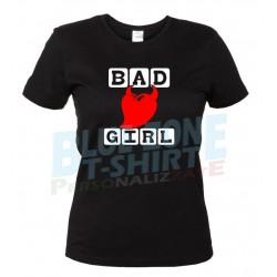 maglietta bad girl cattiva ragazza nera