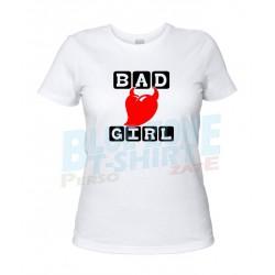 maglietta bad girl cattiva ragazza bianca