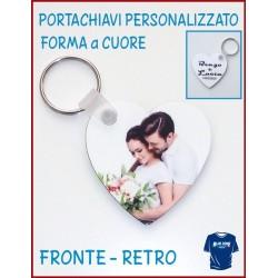 portachiavi personalizzati cuore con foto e scritte stampa fronte retro